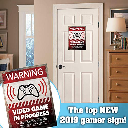 Video Game Room Sign Wall Decor 9 X 12 Gaming Room Retro Video Game Sign Danger
