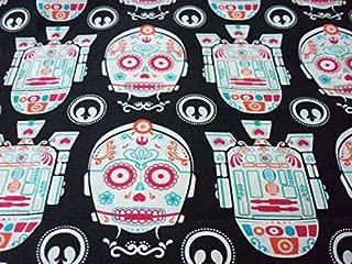 Star Wars Fabric Day Of The Dead CP30 R2D2 Sugar Skulls New By The Fat Quarter BTFQ