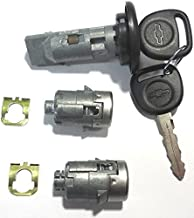 7012945 + 598007 CHEVY/GM Ignition/Door Lock Set (coded with logo keys) Strattec Lock Part …