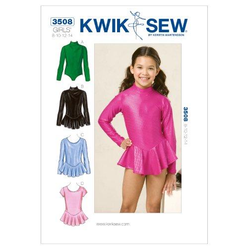 KWIK SEW, Cartamodelli per Abiti da Pattinaggio Bambina, Istruzioni in Inglese