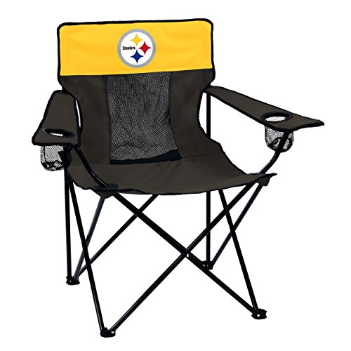 Logo Brands Officially Licensed NFL Pittsburgh Steelers Unisex Elite Chair, One Size, Team Color