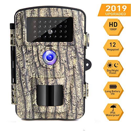 Caméra de Chasse Caméra de Surveillance 16mp 1080p HD Étanche Vision Nocturne Infrarouge IP66 Grand Angle 90°...