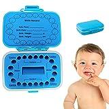 Caja para dientes de leche para niños, de PP/EVA, 11 x 8,3 x 3,5 cm, azul, para dientes de leche, rectangular, para guardar dientes de leche, para colecciones de pelo de fetales, para niñas/niños