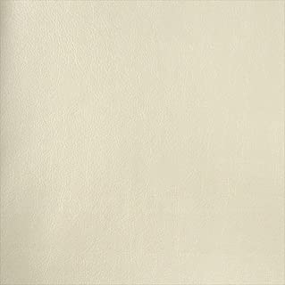 Designer Fabrics G382 54 in. Wide Off White44; Matte Leather Grain Upholstery Faux Leather
