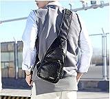 WLYZX Taschen for Männer Männer-Riemen-Kasten-Beutel Anti-Diebstahl-Entwurfs-Schwarz-Brown-Farbe...