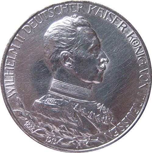 Münze Silber Dt. Kaiserreich 3 Mark 1913 A Preußen Uniform