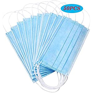 KUKOO 50PCS Disposable Face Cover