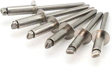0.501-0.625 Pop Rivets 3//16 Diameter #6 All Steel Blind Rivets 6-10 3//16 x 5//8 Grip Qty 1,000