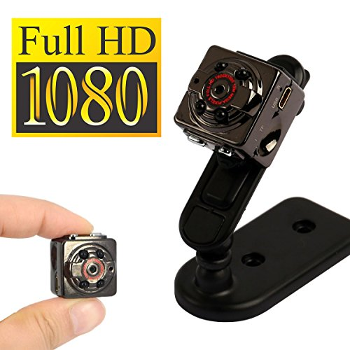 Full HD Mini Video Kamera mit 16GB Speicherkarte | 1080P Miniatur Kamera - geignet als Überwachungskamera sowie als Outdoor Sport Action Cam | Inklusive 16GB MicroSD Karte