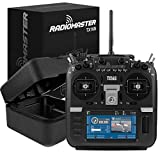 RadioMaster TX16S Radio Transmitter Hall Gimbal 2.4G 16CH 4.3inch LCD Open Source Multi-Protocol RF System RC Transmitter Remote Control for RC Drone (Mode 2 Left Hand Throttle)