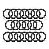Sourcingmap – juntas tóricas de goma de nitrilo, 11 mm de diámetro interior, 15 mm de diámetro exterior, 2 mm de ancho, junta de sellado redondo (paquete de 20)