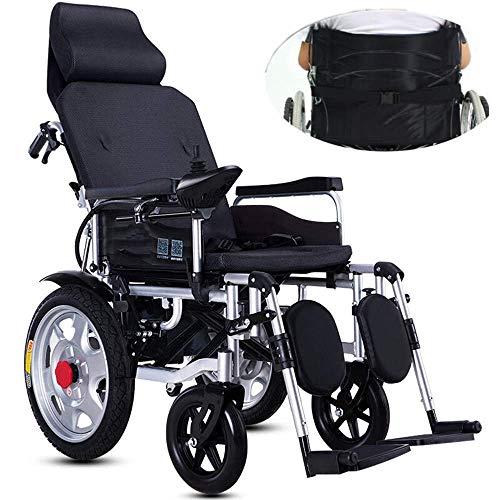 FTFTO Inicio Accesorios Ancianos Discapacitados Lite Silla de Ruedas de Aluminio Estructura Ligera y Plegable Silla de Ruedas propulsada por Asistente Scooter médico portátil