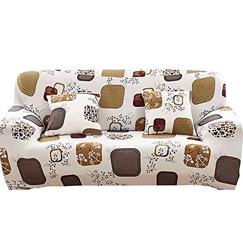 WXQY Funda elástica para sofá con Todo Incluido, Funda para sofá en Forma de L Funda para sillón para Sala de Estar, Funda Protectora para Muebles A7 de 4 plazas