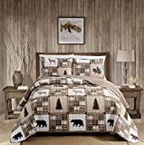 Rustic Modern Farmhouse Cabin Lodge Quilted...
