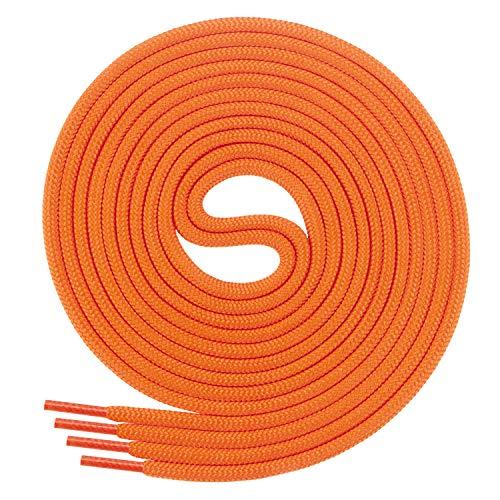 Di Ficchiano Schnürsenkel, Rundsenkel für Business- und Lederschuhe, reißfester Allroundsenkel, ø 3mm Farbe orange Länge 70cm
