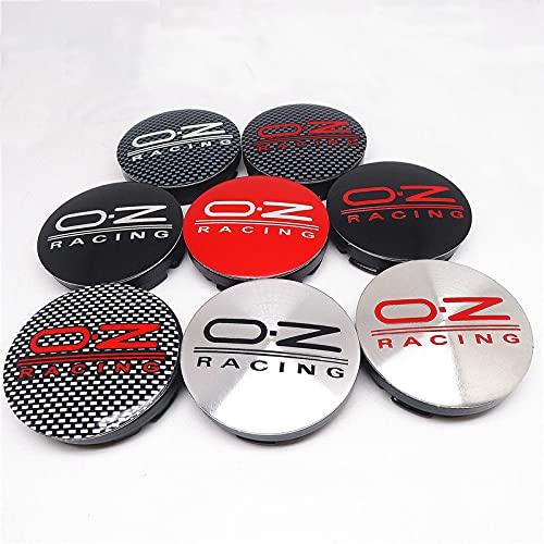 Cubierta del cubo de rueda 4pcs 56mm para OZ Racing Coche Coche Centro Hub Caps Caps Badge Emblem Auto Styling Accesorios Cubierta central (Color : D)