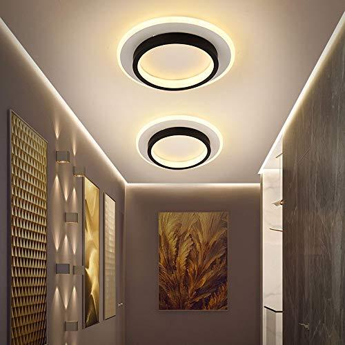Yangmanini Lámpara LED De Techo Nórdico Pasillo Balcón Luces Del Pasillo Ligero Moderno Hall De Entrada Principal Armario Simples