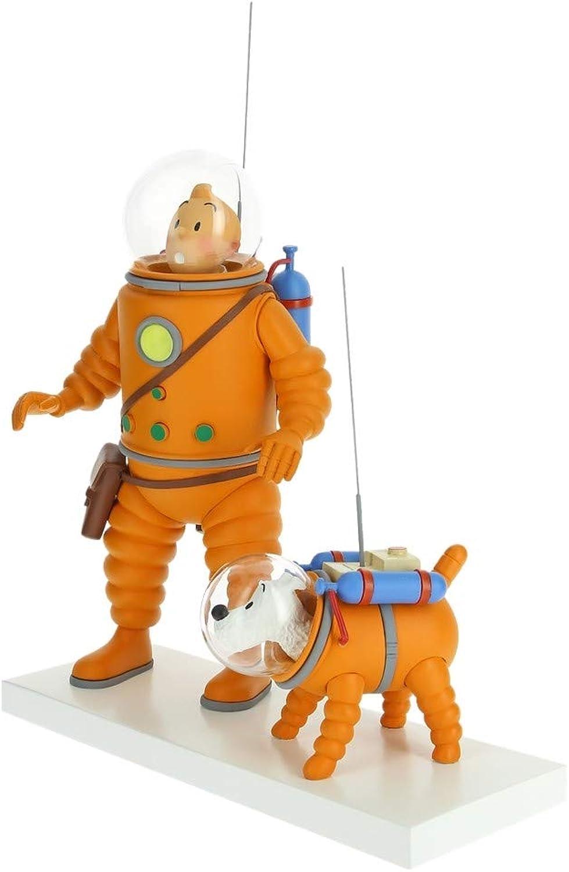 servicio honesto Fariboles Fariboles Fariboles Figura Moulinsart Tintín y Milú cosmonauta en la Luna 44023 (2019)  tienda de descuento