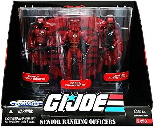 GI Joe - Celebrate 25th Anniversary - Collector Edition - ToysRus Exclusive - SENIOR RANKING OFFICERS 3 Pack - Crimson Guard Trooper & Cobra Commander & Crimson Guard Officer - Set 2 of 3