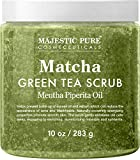 Matcha Green Tea Body Scrub for All Natural Skin Care - Exfoliating Multi Purpose Body and Facial Scrub Moisturizes and Nourishes Face and Skin - 10 oz - Great Gift for Her