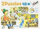 Diset 69586 - 2 Puzzles 48 Pinocho/ Viajes De Gulliver