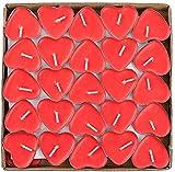 THE TWIDDLERS Romantico A Forma di Cuore Candele Rosse Piccolo Profumo Senza Fumo per Eventi Come Romantiche, San Valentino, Matrimoni, Anniversario, Cerimonie E Feste di Fidanzamento