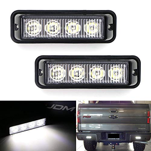 iJDMTOY Xenon White Mini LED Light Bars as Backup or Driving Lights Compatible With Truck Jeep Off-Road ATV 4WD 4x4, Spot Beam LED Assy Powered by (4) 5W LED Diodes