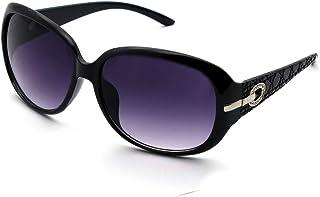 ENSARJOE Women's Classic Stylish Designer Oval Retro Sunglasses 100% UV400 Protection