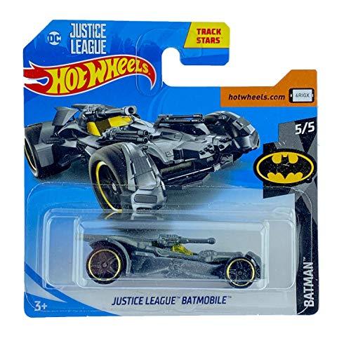Hot Wheels Justice League Batmobile (Plata) 5/5 Batman 2019 - 66/250 (tarjeta corta) FYB92