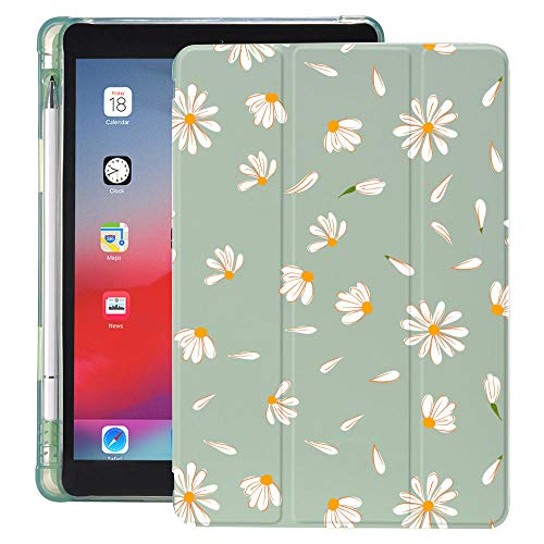 Daisy Sunflowers For Ipad Case With Pencil Holder Air 4 10.2 8th 2020 7th 6th 12.9 Pro 11 2018 Mini 5 Cover For 10.5 Air 1 2 3 (Color : 200856S, Size : IPad mini 5)