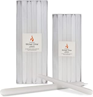 Michael Zohar Candles – 12 Pack Unscented, Hand Dipped Taper Candle –..