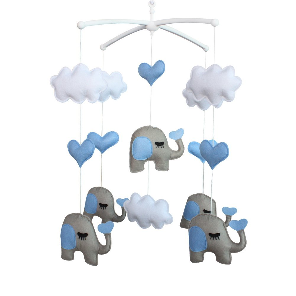 Cute Latest item Newborn Baby Bed Ranking TOP17 Bell Decor Elephant Hanging Gift Pretty