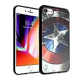 Captain America iPhone 7 Case, DURARMOR FlexArmor iPhone 7 Captain America Shield Cover Bumper ScratchSafe Rubber TPU Case Drop Protection Cover for iPhone 7 Captain America