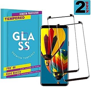 GalaxyS8PlusScreenProetctor,Premiun3DTemperedGlass[2-Pack][CaseFriendly][9HHardness][UltraClear][ScratchTerminator]ScreenProtectorforSamsungGalaxyS8Plus