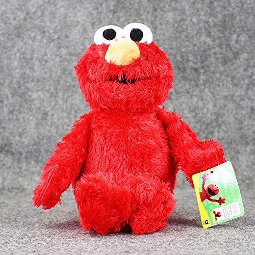 dzj Sesame Street Elmo Peluche Suave Peluche Marioneta De Mano Regalo De Cumpleaños para Niños 31 Cm
