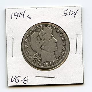 1914 S Barber Half Dollar Half Dollar VG-08