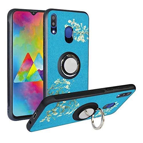 Alapmk Hülle Kompatibel mit Samsung Galaxy M20 2019 /M205,TPU Handyhülle mit ständer Stoßdämpfung Design Kratzfest Schutzhülle für Samsung Galaxy M20(2019) Phone,Flower