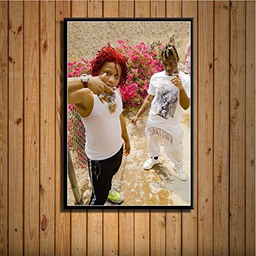 PCCASEWIND Bilder Wandbild Frameless 40X60Cm - Trippie Redd Rap Hip Hop Rapper Star Musik Kunst Seidenmalerei Auf Leinwand Wandposter Home Decor Artwork Ae2219