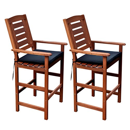 Miramar Patio Chairs, Cinnamon Brown/Black - CorLiving PEX-263-C