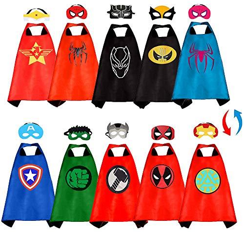 Superhero Capes for Kids-Superhero Costumes for Boys Superhero Capes for Kids Dress 5 Pcs