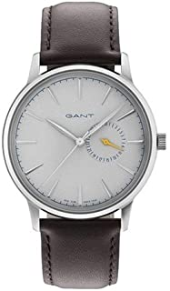 Gant Stanford Men's Grey Dial Leather Band Watch - G Gww048006, Analog Display