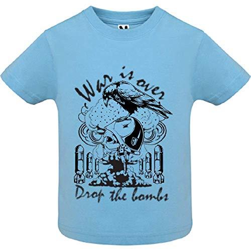 LookMyKase T-Shirt - War is Over - Bébé Garçon - Bleu - 2ans