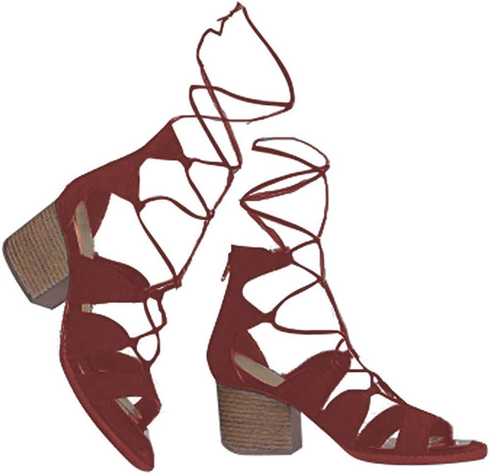 J. Adams Low Wood Heel Lace Tie Sandal Tucson Ranking TOP12 Mall Gladiator - Up Trendy