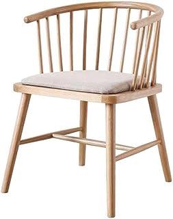 HYY-YY Sillas de comedor de cocina Wishbone silla Y silla de comedor de madera maciza sillón de ratán natural (color tamaño: 56 x 50 x 73 cm)
