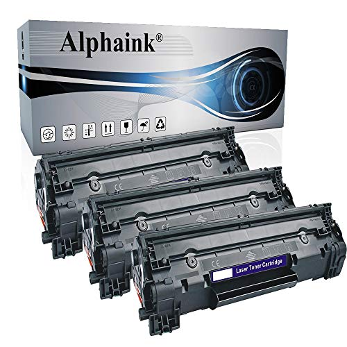 3 Toner Alphaink CB435A Compatibile con HP Laserjet P1005 P1100 P1102W P1102 P1103 P1505N P1104 P1108W P1102