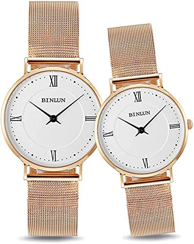 BINLUN Relojes Mujer Hombre Reloj de Pulsera Impermeable de Cuarzo con Pantalla...