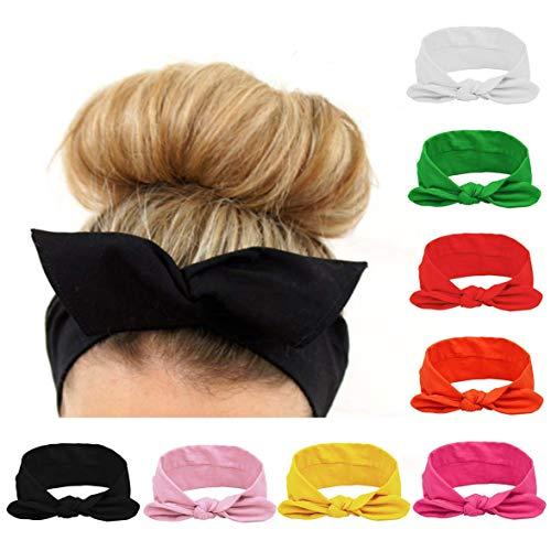 8 stk mehrfarbig Kopfband haarband Fliege Schleife für Damen Niedlich Haarschmuck