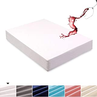 Mecerock 6 Colors Optional Queen Size Waterproof Mattress Pad Protector Cover Fitted to 18 Deep Hypoallergenic Vinyl Free