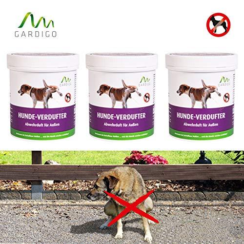 Gardigo Hunde-Verdufter 3x 300 g Granulat, Hunde-Stopp, Hundeabwehr, Hundeschreck