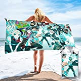 Da-n-gan-ro-npa Detective toalla de playa Qucik-dry ligera con bolsillo toallas de baño suaves altamente absorbentes natación deportes gimnasio para hombres mujeres adultos 27.5 pulgadas x 55 pulgadas